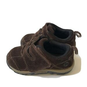 Merrell Brown Suede Tab Closure Slip On Baby Shoes Toddler Size 7