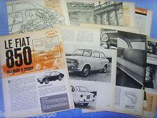 QUATTROR964-PROVA SU STRADA/ROAD TEST-1964- FIAT 850 NORMALE E SUPER - 14 fogli