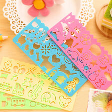 Plastic Students Children Kids Templates Picture Drawing Ruler Stencil Fun 1 pcs