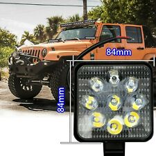 9 LED Square White 6000K 12V Truck Bumper Flood Work Lights IN NIS
