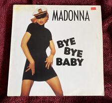 "MADONNA BYE BYE BABY RARE 12"" EU VINYL RECORD DISC EROTICA SAILOR PROMO PICTURE"