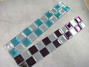 3D Bevelled Edge Glass Mosaic Border Tiles 2 Colour Choices - Various Pack Sizes