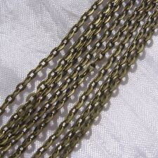 2M CHAINE FORCAT 3,5x2,5mm METAL COULEUR BRONZE perles colliers bracelets *J103