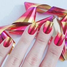 9 Blatt Gradient Starry Sky Nagel Folie Sticker Nail Foil Maniküre Decal Deko