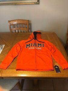 University of Miami Hurricanes Jacket Sweater  NCAA Hoodie UM The U Shirt Small