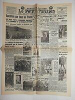 N657 La Une Du Journal Le petit Parisien 26 août 1936 accalmie sur tous fronts