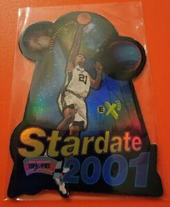 1997 SkyBox EX 2001 Star Date Tim Duncan RC SSP Die-Cut Rookie HOF RARE (B)