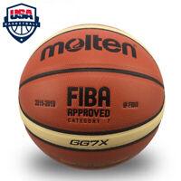 Molten Basketball GG7X Official FIBA In/outdoor Training Match Composite,Size 7