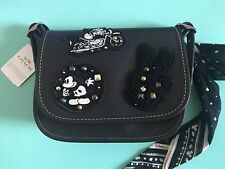 Disney X Coach F59355 Patricia 18 Glove Calf Leather with Mickey NEW Black