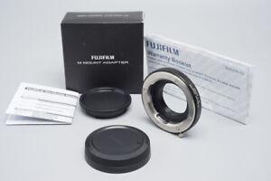 Fujifilm M Mount Adapter M (M-Mount), X to M Mount , Black, XF Cameras