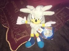 """OFFICIAL SONIC THE HEDGEHOG 8"""" SILVER SONIC SOFT TOY PLUSH """"NEW RELEASE"""