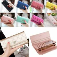 Ladies Large Capacity Crown PU Leather Wallets Hand Bags Long Purses Card Holder