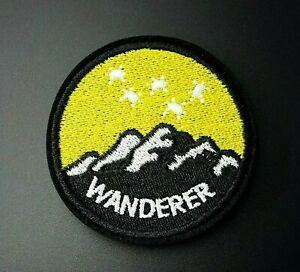 Wanderer Iron-On Patch : Wander Explore Adventure Hiking Camping Wanderlust Hike