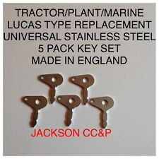 TRACTOR/PLANT/MARINE LUCAS UNIVERSAL TYPE REPLACEMENT KEY X 5 STAINLESS STEEL