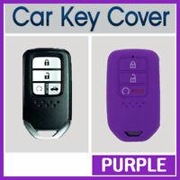 Car Key Cover Case Protector Fits Honda Accord CRV Civic 3-Button Remote -PURPLE