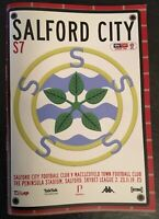 SALFORD CITY V MACCLESFIELD TOWN 2019/20 MINT