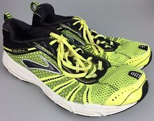 Brooks Racer ST 5 Athletic Shoes Running Competition Neon Yellow Green Mens 8 41