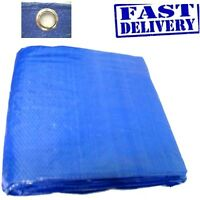 BLUE TARPAULIN GROUND SHEET 12ft X 12ft 3.5m x 3.5m Waterproof Cover