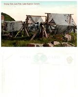 CANADA Postcard Ontario, Drying Nets, Jack Fish, Lake Superior (A5)