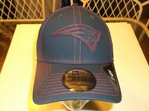 New England Patriots NFL New Era 3930 Silicone Neo Stretch-fit  hat S/M