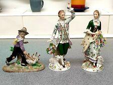 Sitzendorf Porcelain figurines Lot German Antique/Vintage