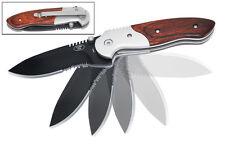 NEW ASSISTED SPRING OPENING POCKET KNIFE - BLACK & WOOD
