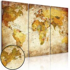 "Canvas Prints Map Art Wall Art Prints 3 Pieces World Map 47.2"" x 31.5"" Frameless"