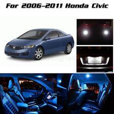 10pcs Interior LED Package+Back Up Lights For 2006-2011 Honda Civic Ice Blue