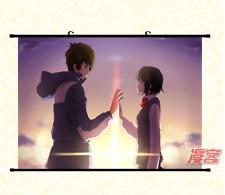 Anime Kimi no Na Wa Your Name Wallscroll Tapete Stoffposter Geschenk 60x90CM 004