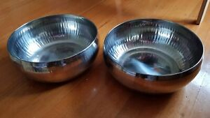 Metal hammered bowls x 2, Used