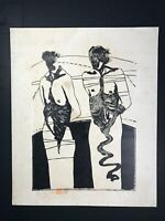 Engraving by Humberto Castro. Untitled. 1983. Original signed and dated.