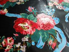 "Chintz Fabric A Ramm Hand Print Floral Ribbon Bouquet Polished Cotton BTY 56"" UK"