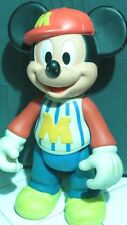 """Disney Mickey Mouse Vintage Collectible Baseball Player Uniform 12"""" Rubber Toy"""
