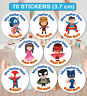 70 Personalised School Teachers Children Parents Well Done Reward Sticker Labels