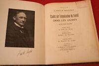ETUDES SUR L'ORGANISATION DU TRAVAIL DANS LES USINES M.F.W.TAYLOR éd 1907