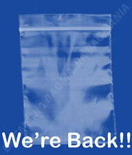 """100 2mil Ziplock 4"""" x 4"""" RESEALABLE Plastic Small Bags Jewelry Bags - Beads Bags"""