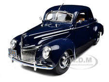 1939 FORD TUDOR DELUXE BLUE 1/18 DIECAST MODEL CAR BY MAISTO 31180