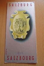 Reiseprospekt Österreich Salzburg 1950er Jahre,auffaltbar 8 Seiten