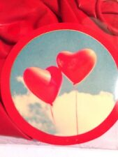 VALENTINE'S LARGE RED HEART SHAPED BALLOONS, PACK OF 6, WEDDING, ANNIVERSARY NEW