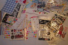 Large Collection of Scrapbooking Stickers Sayings Borders and What Nots