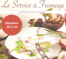 Service à fromage ( plat + couteau ) neuf