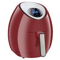 Red 1500W Digital Air Fryer Rapid Heat Technology Touch Screen Deep Fryer