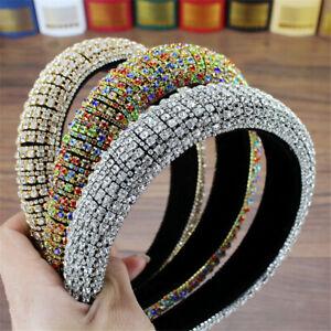 Headband Rhinestone Pearl Haiband Baroque Tiara Full Crystal Wedding Headdress