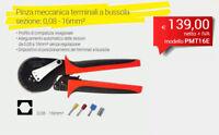INTERCABLE PMT16E Pinza meccanica terminali a bussola sezione: 0,08 - 16mm²