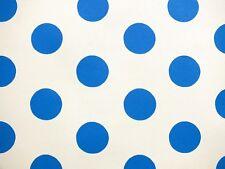 Children's, Textured, White & Blue Polka Dot Wallpaper