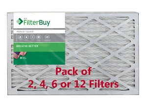FilterBuy 16x25x1 Air Filters, Pleated Replacement for HVAC AC Furnace (MERV 8)