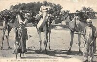 POSTCARD   EGYPT  Camels  and  Drivers     LL  9