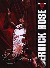 Derrick Rose Chicago Bulls Signed Poster Print Sky High Dunk NBA Champion