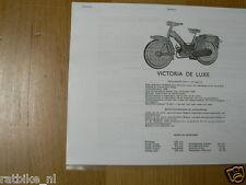 V0405 VICTORIA--TECHNICAL INFO BOMFIETS VICTORIA DE LUXE M51 + PRECIOSA M51----M