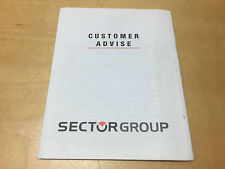 Used Booklet Brochure SECTOR Customer Advise All languages For Collectors